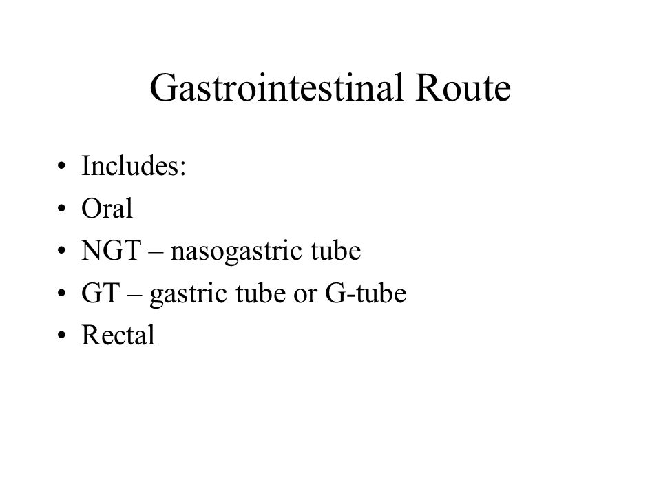 Gastrointestinal Route