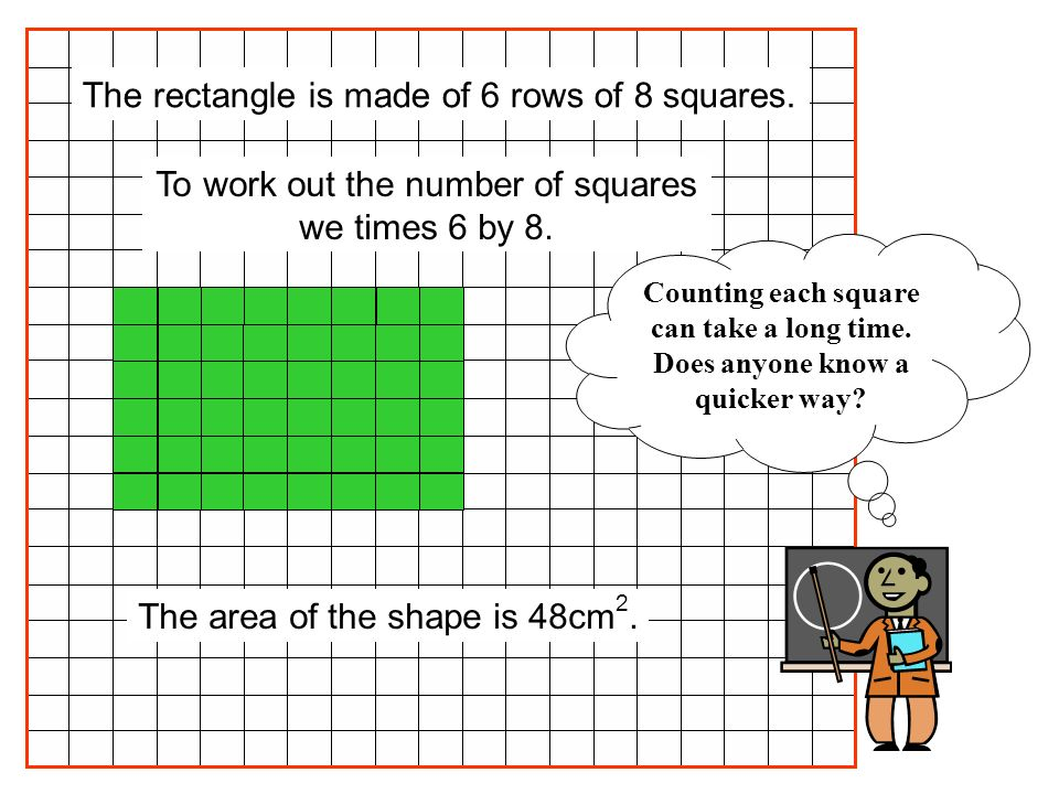 To work out the number of squares