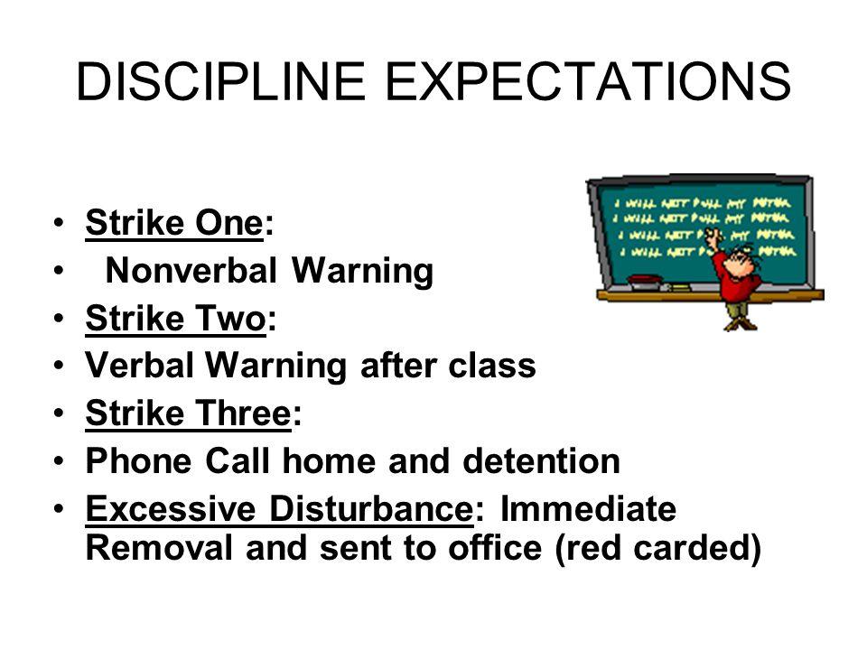 DISCIPLINE EXPECTATIONS