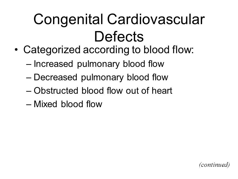 Congenital Cardiovascular Defects