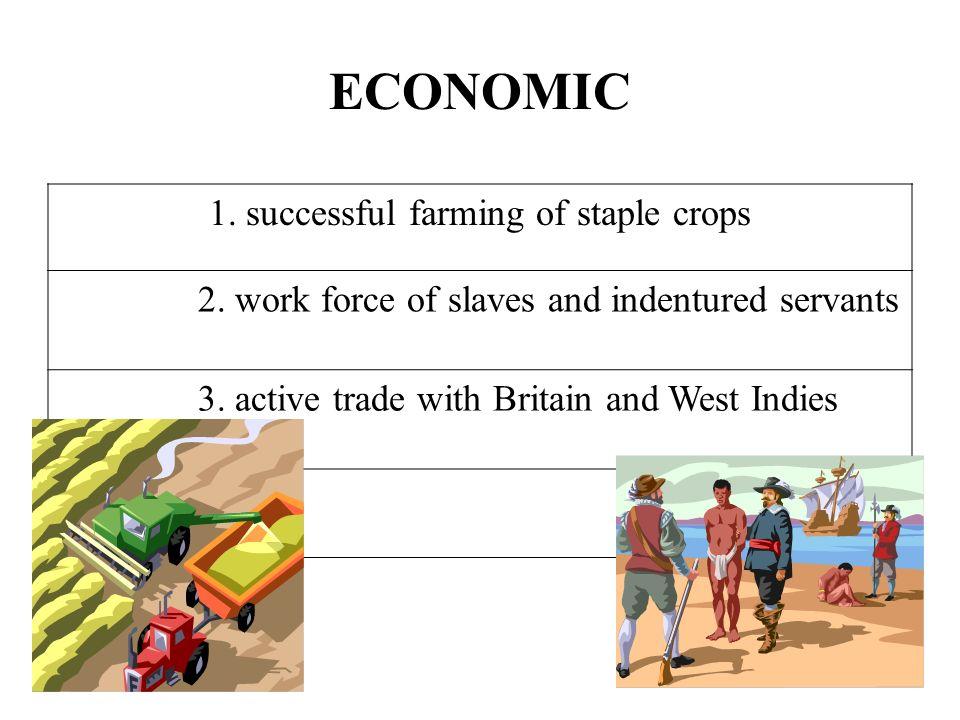 1. successful farming of staple crops