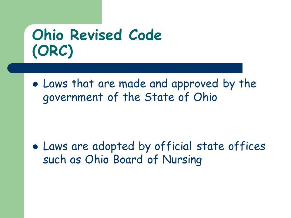 Ohio Revised Code (ORC)