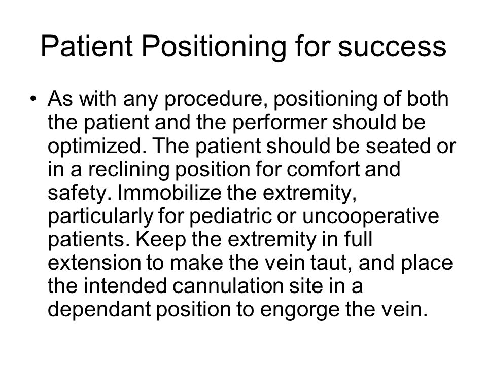 Patient Positioning for success