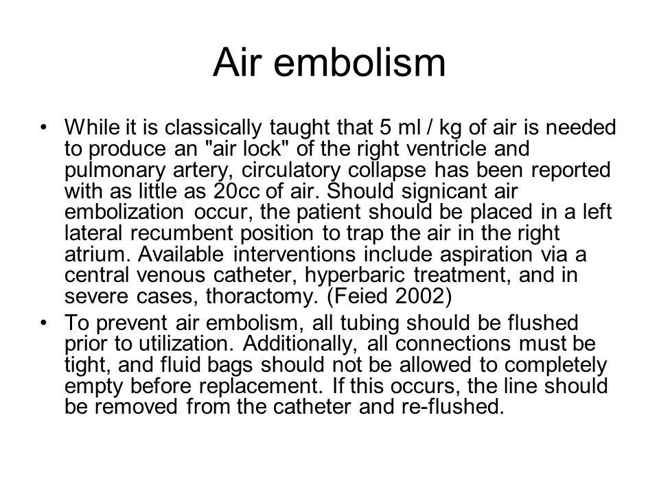 Air embolism
