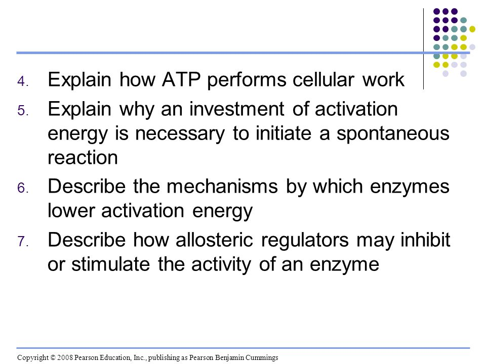 Explain how ATP performs cellular work
