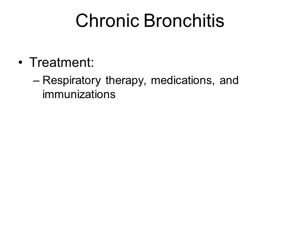 Chronic Bronchitis Treatment: