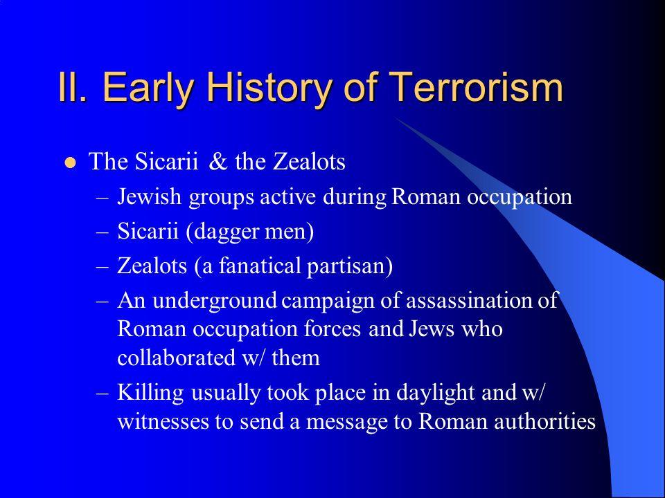 II. Early History of Terrorism