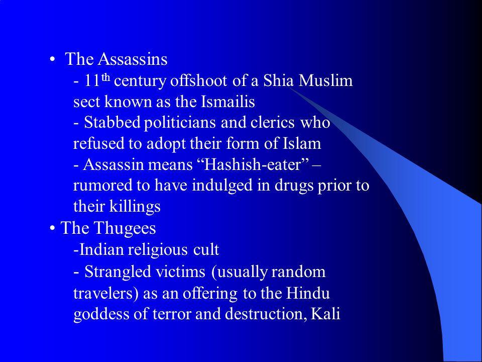 The Assassins The Thugees