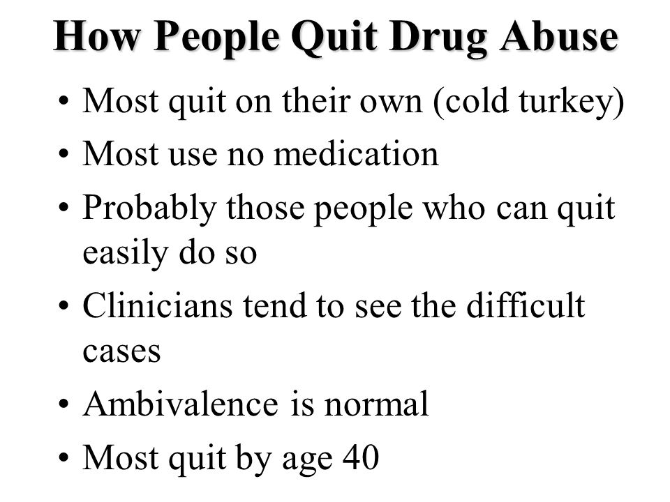 How People Quit Drug Abuse