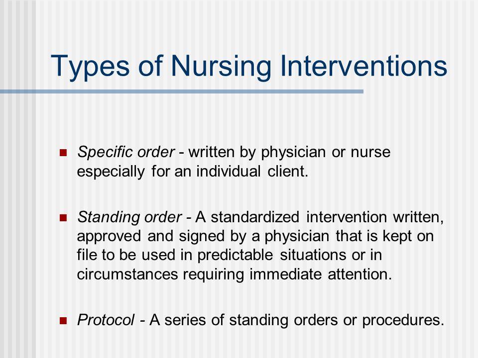 Types of Nursing Interventions