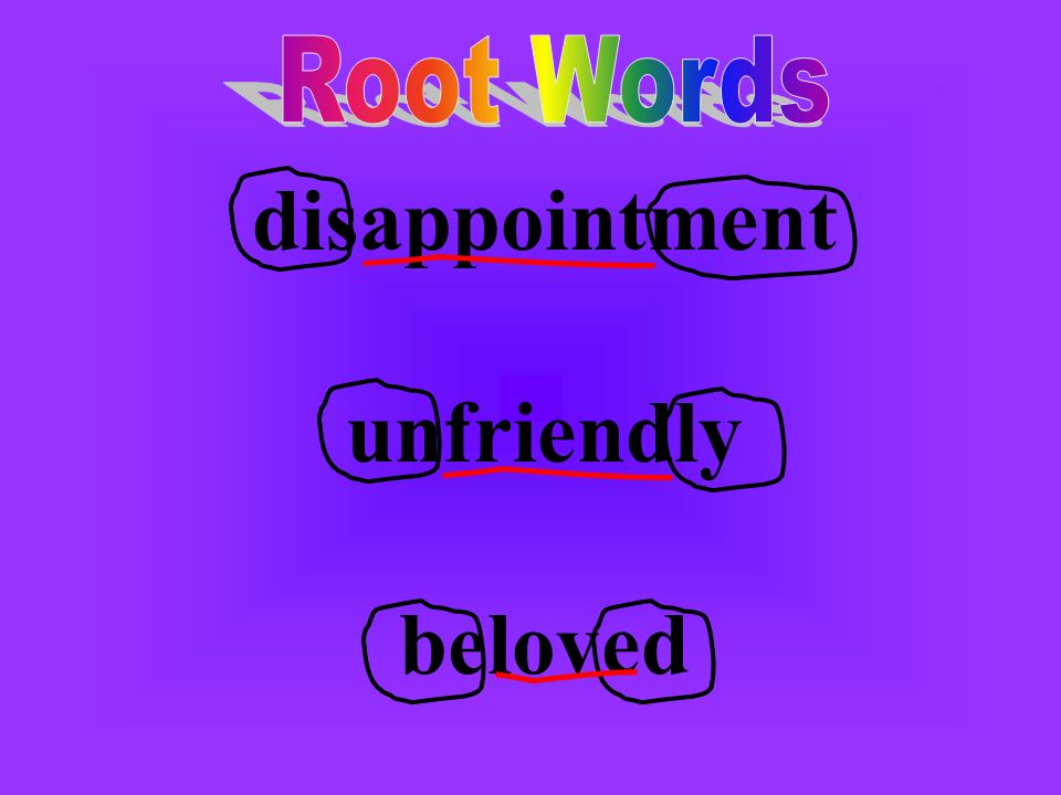 disappointment unfriendly beloved