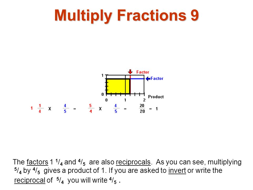 Multiply Fractions 9 Multiply fractions1.