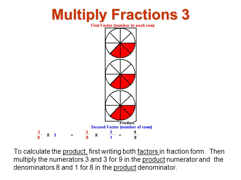 Multiply Fractions 3 Multiply fractions1.