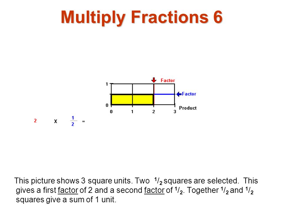 Multiply Fractions 6 Multiply fractions1.