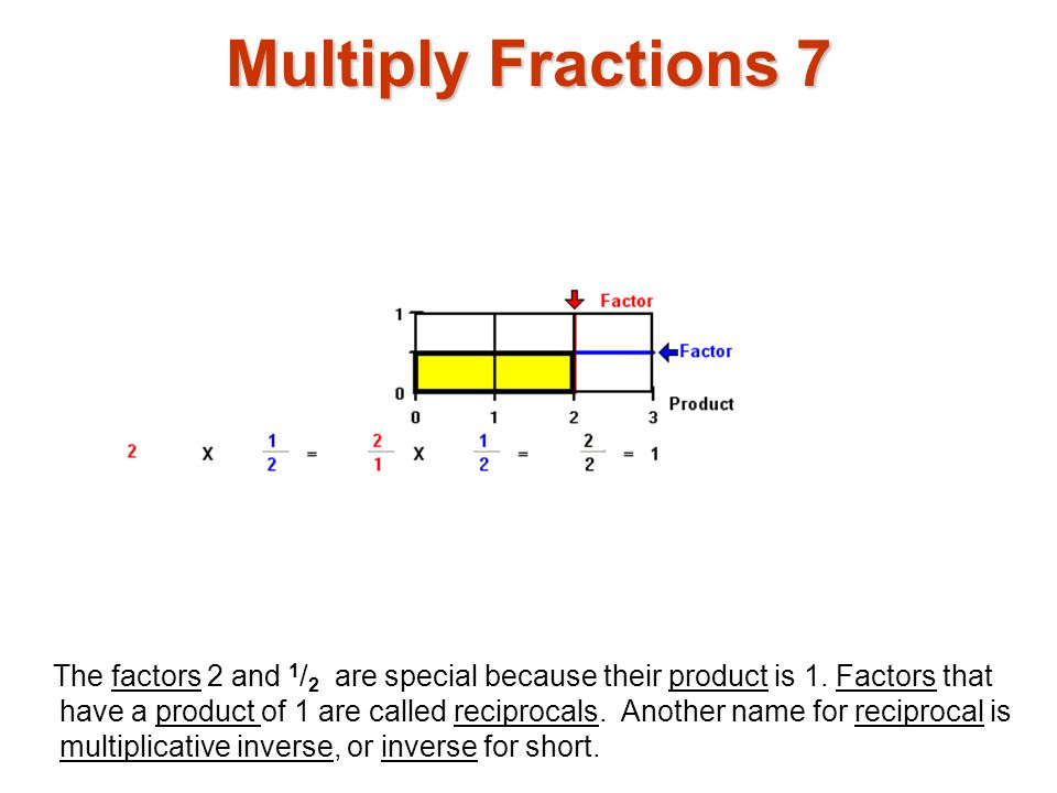 Multiply Fractions 7 Multiply fractions1.