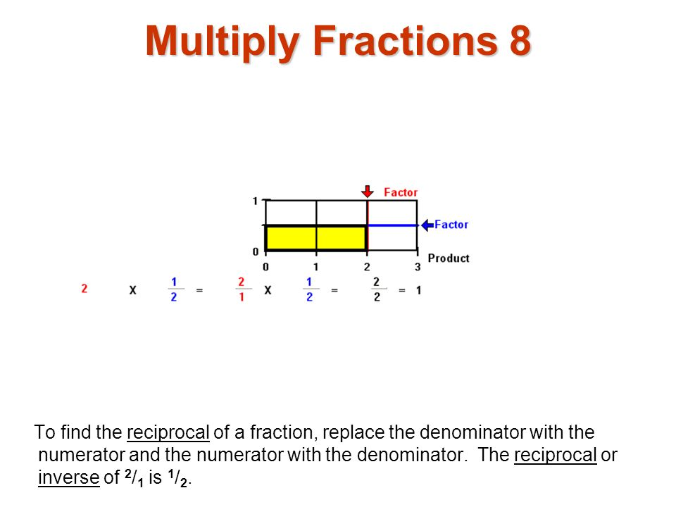 Multiply Fractions 8 Multiply fractions1.