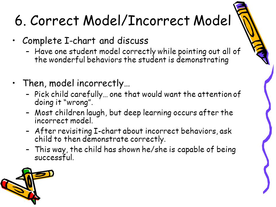6. Correct Model/Incorrect Model
