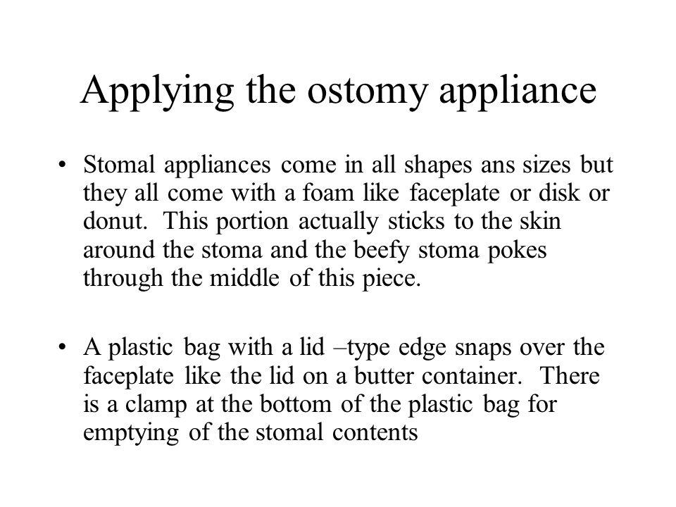 Applying the ostomy appliance