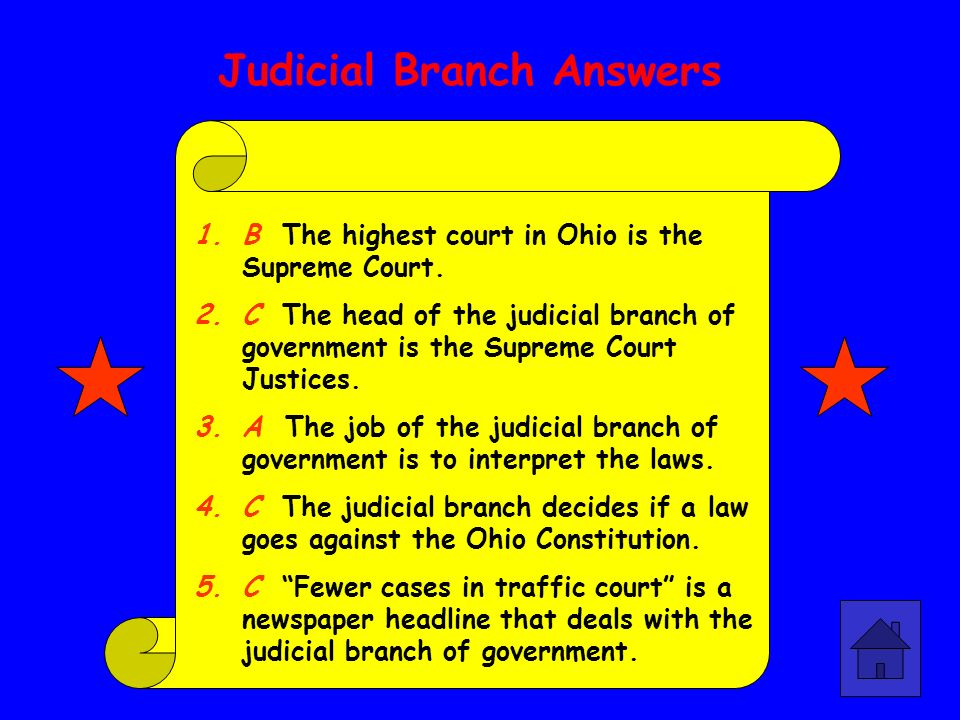 Judicial Branch Answers