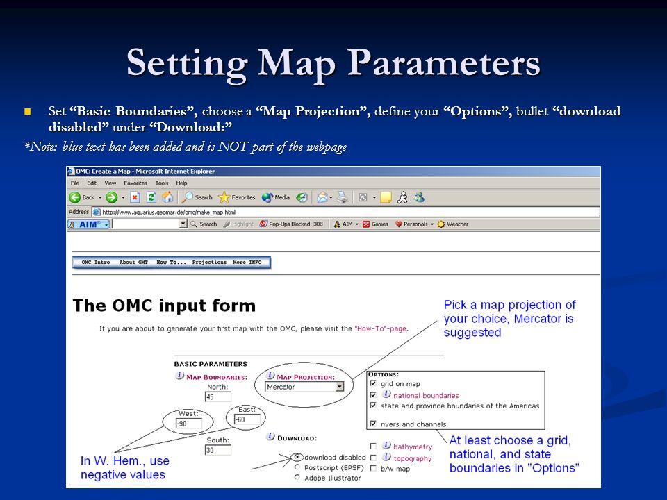 Setting Map Parameters