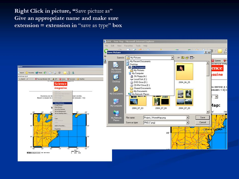 Right Click in picture, Save picture as Give an appropriate name and make sure extension = extension in save as type box