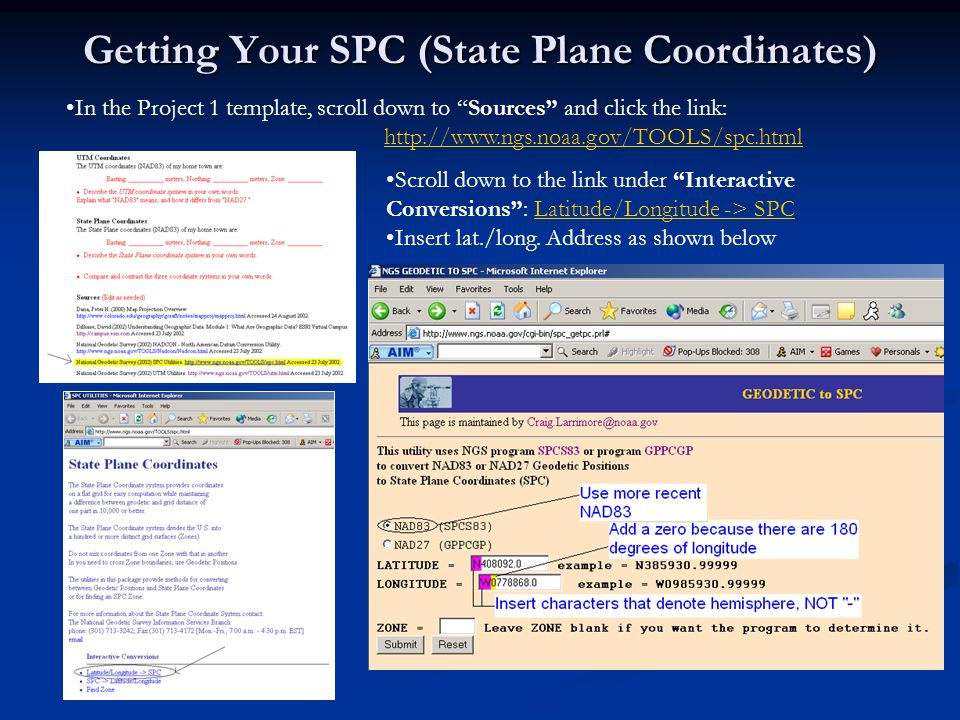 Getting Your SPC (State Plane Coordinates)