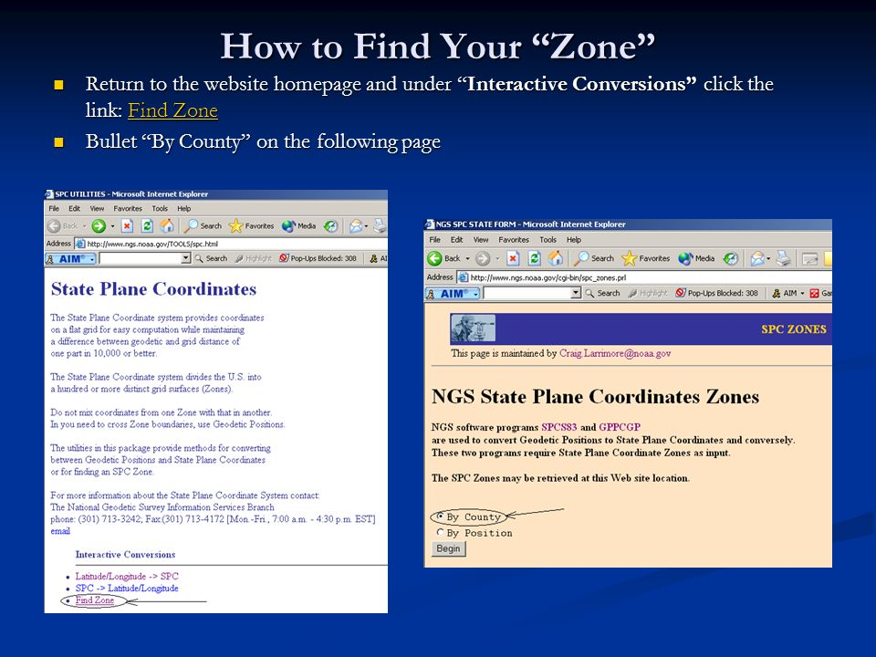 How to Find Your Zone Return to the website homepage and under Interactive Conversions click the link: Find Zone.