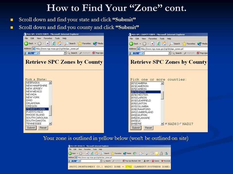 How to Find Your Zone cont.