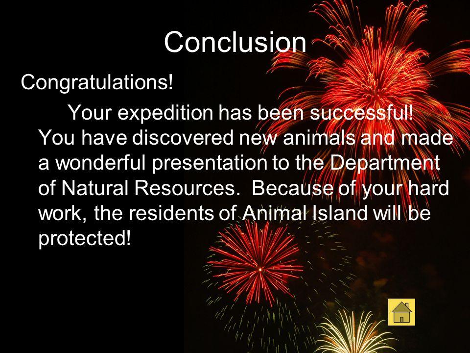 Conclusion Congratulations!