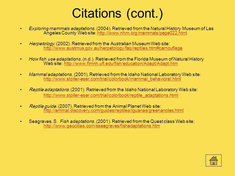Citations (cont.)