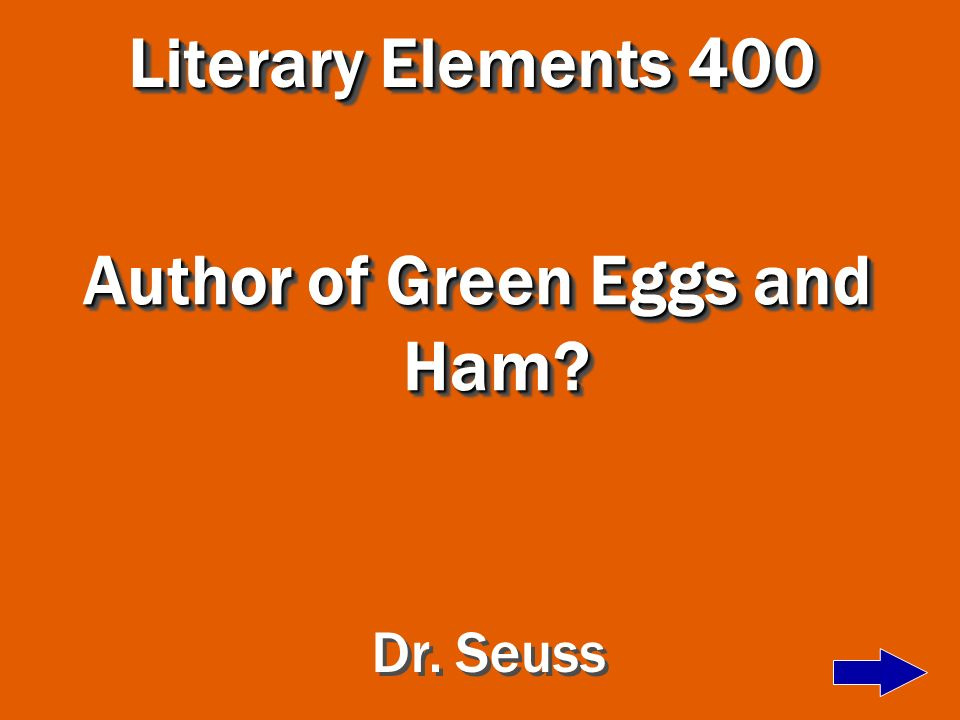 Author of Green Eggs and Ham