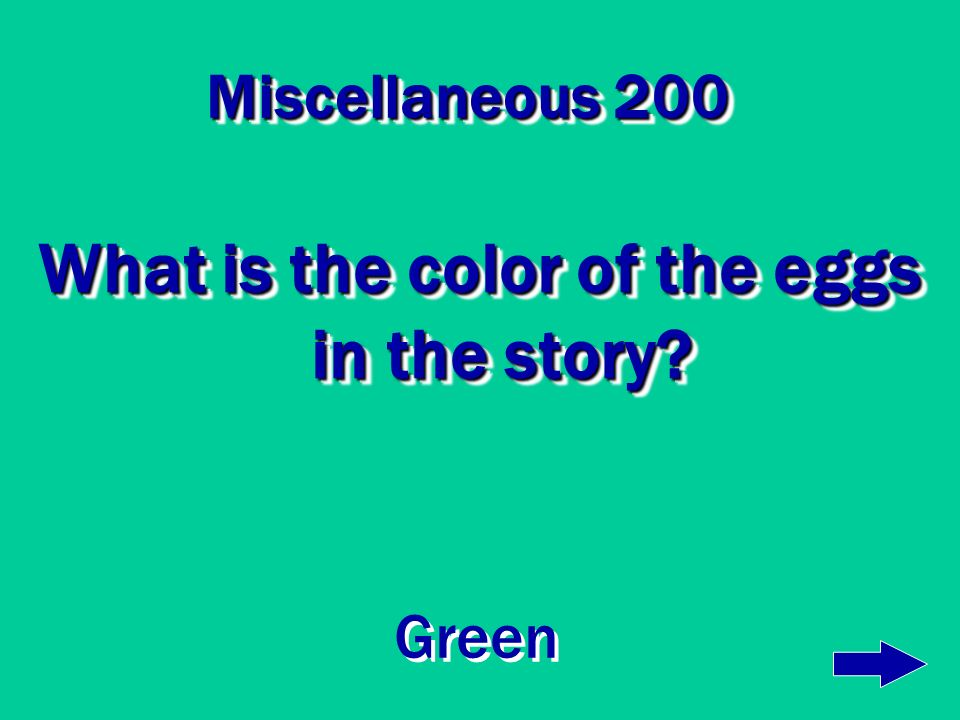 What is the color of the eggs in the story