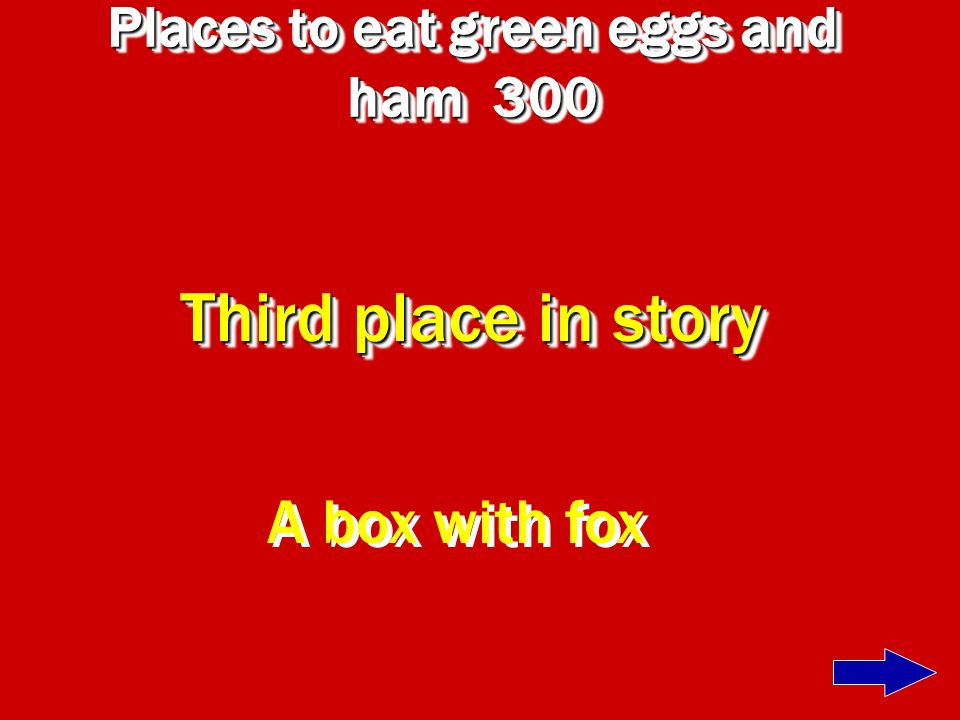 Places to eat green eggs and ham 300