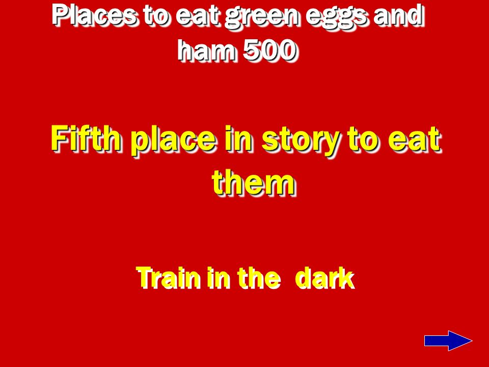 Places to eat green eggs and ham 500