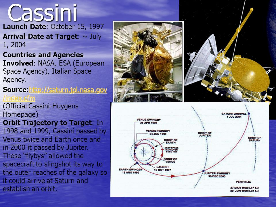 Cassini Launch Date: October 15, 1997