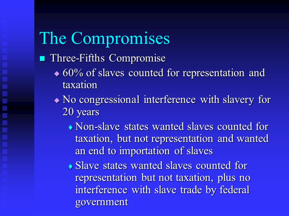 The Compromises Three-Fifths Compromise