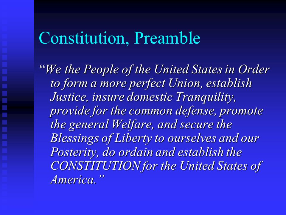 Constitution, Preamble
