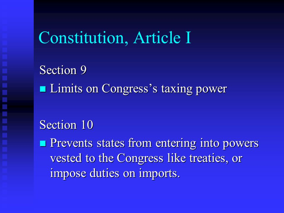 Constitution, Article I