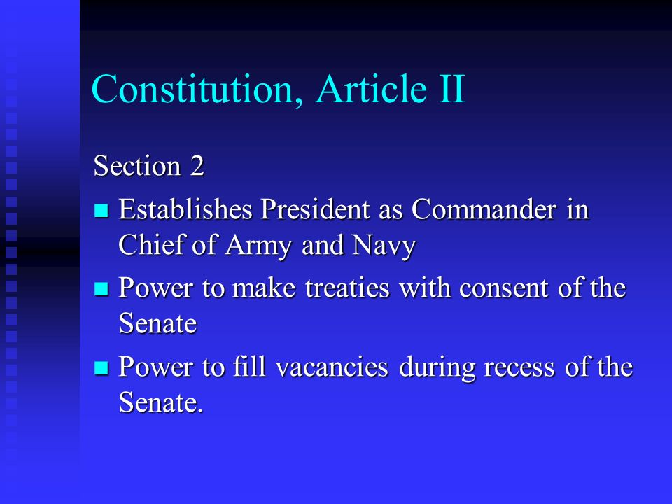 Constitution, Article II
