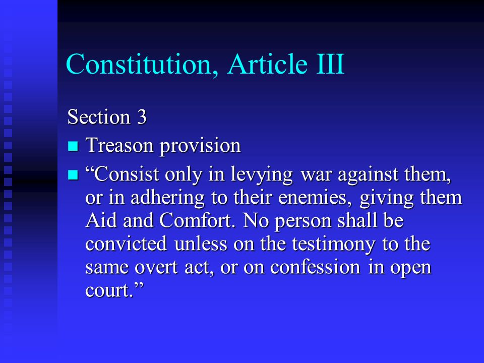 Constitution, Article III