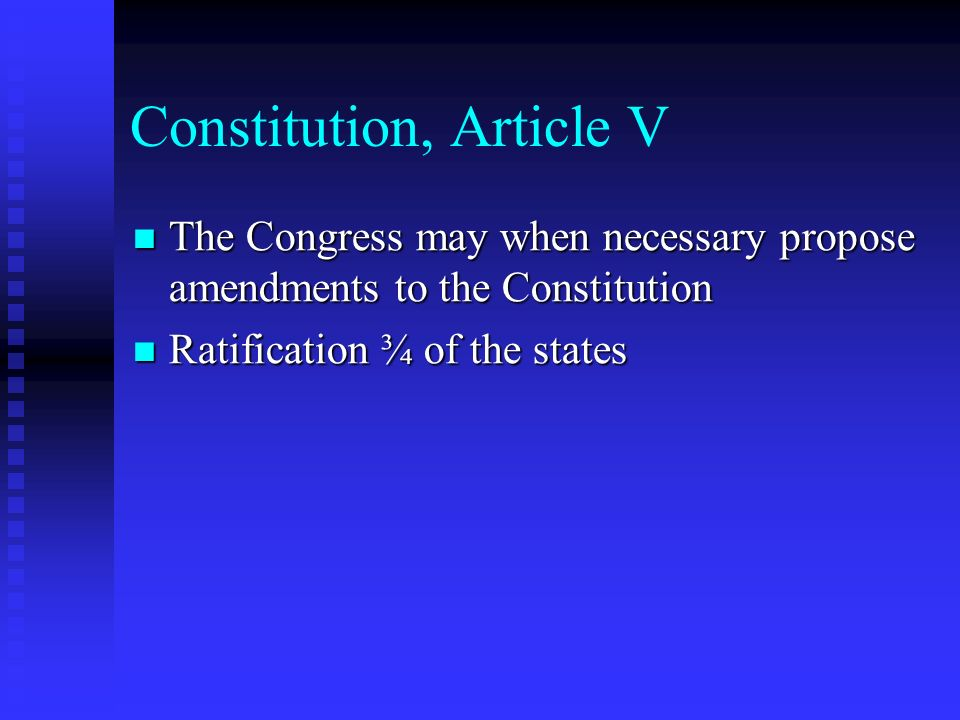 Constitution, Article V