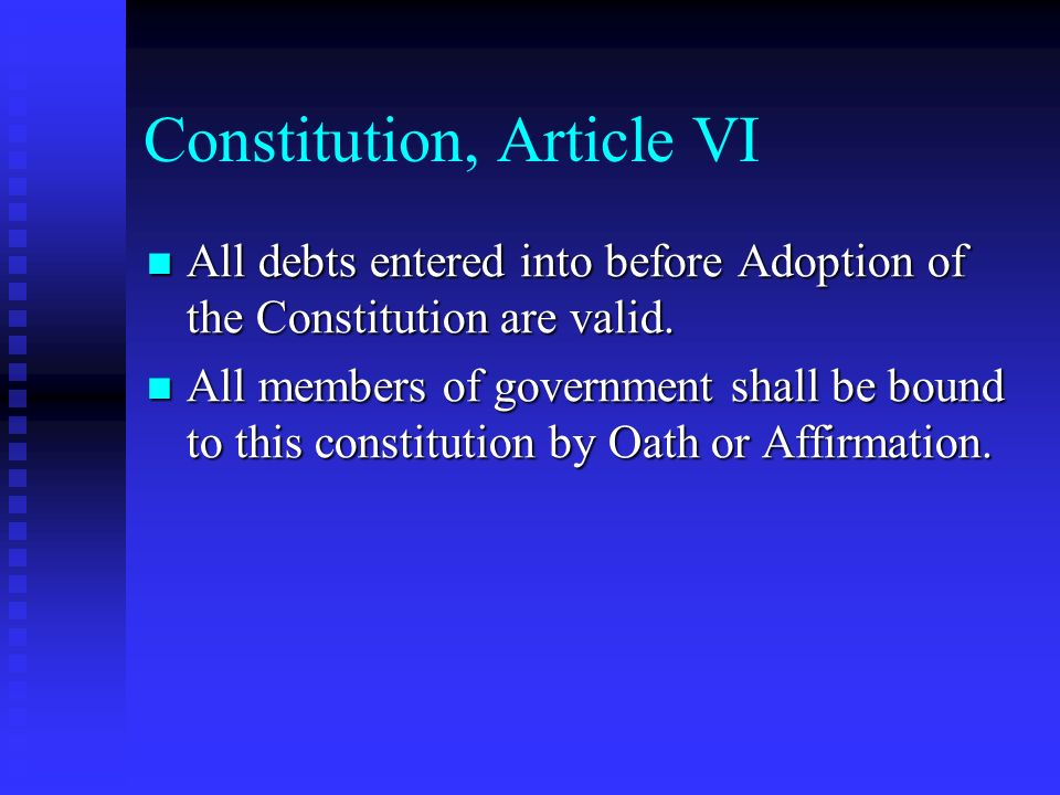 Constitution, Article VI