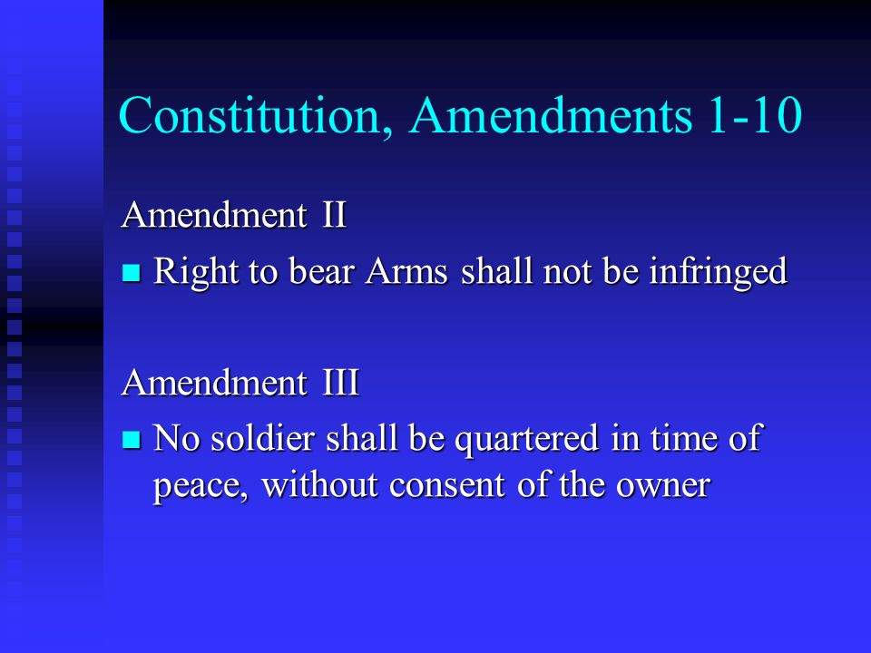 Constitution, Amendments 1-10