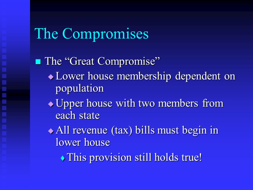 The Compromises The Great Compromise