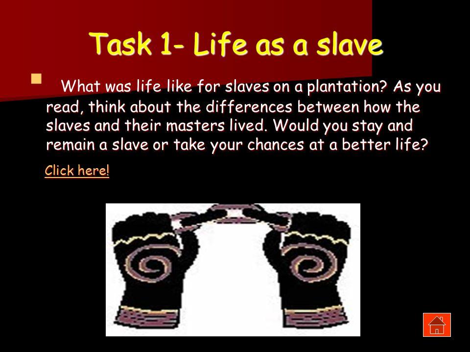 Task 1- Life as a slave