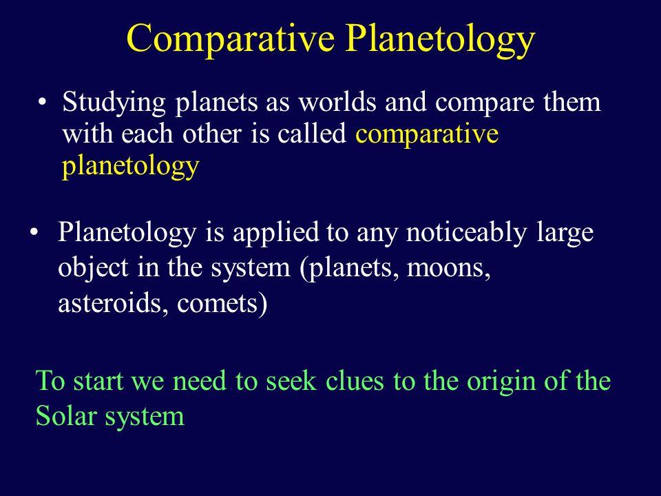 Comparative Planetology