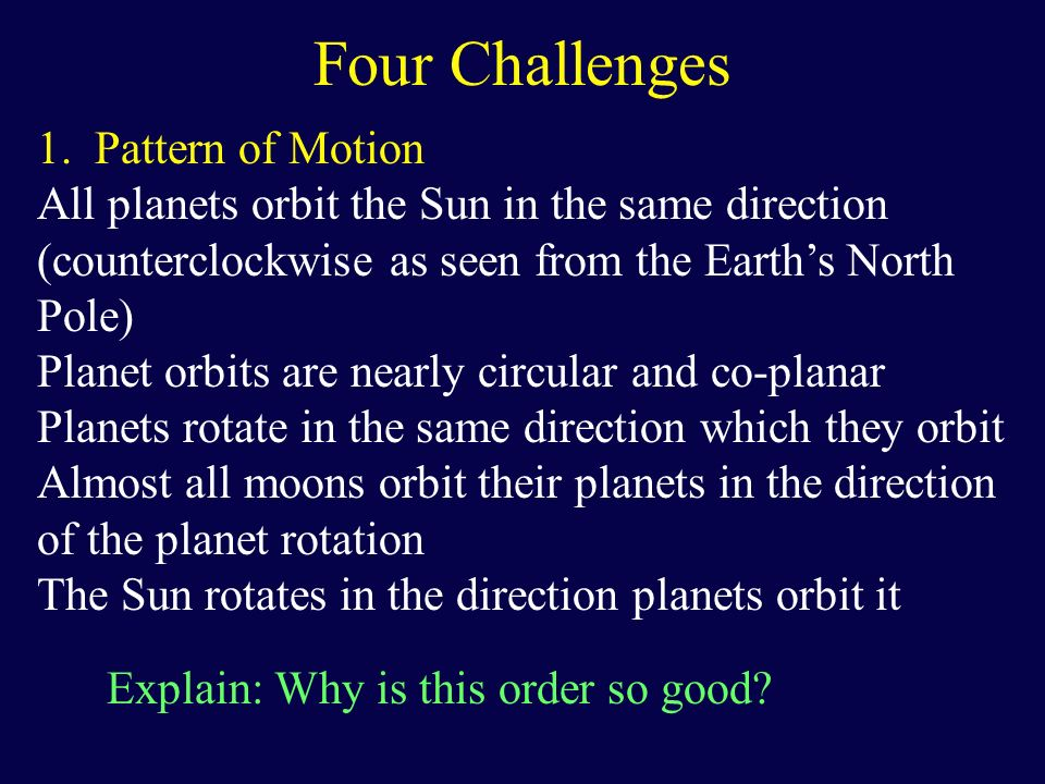Four Challenges Pattern of Motion