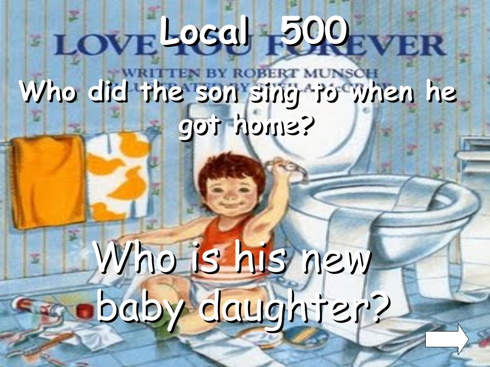 Who did the son sing to when he got home