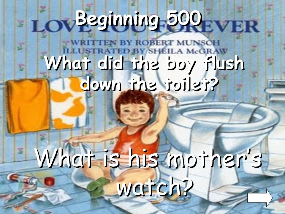 What did the boy flush down the toilet