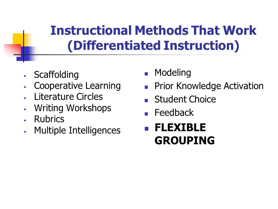 How to Differentiate Instruction - teach-nology.com